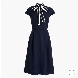 Jcrew Tie neck dress